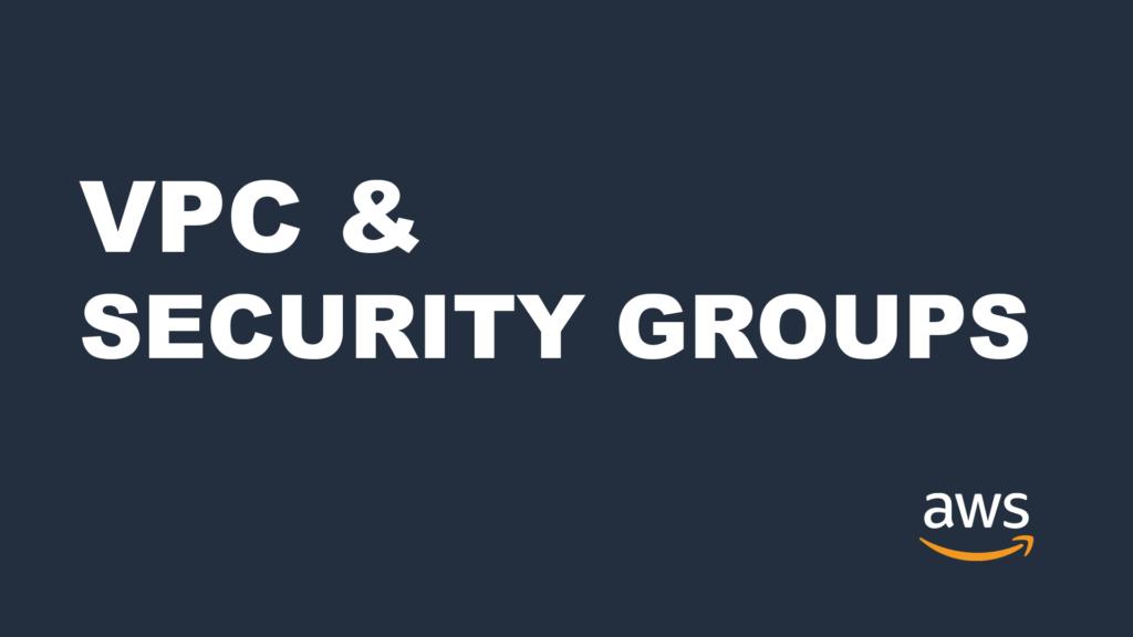 security groups vpc amazon aws alexjunio